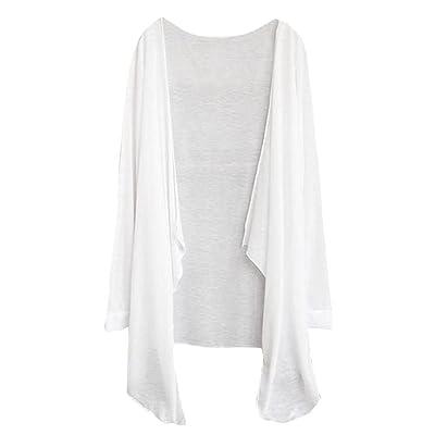 AmazingDays Chemisiers T-Shirts Tops Sweats Blouses,Femme Long Cardigan Fin Modale Vêtements de Protection Solaire Tops