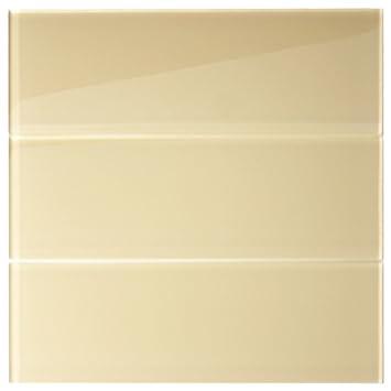 Amazoncom Khaki Glass 4 X 12 Subway Tile 1 Sqft Home Kitchen
