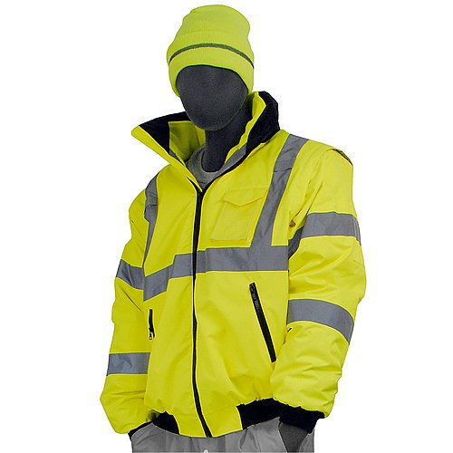 Majestic Glove 75-1381/T1 Bomber Jacket, 8 in 1, High-Vis, Class 3, X-Large/Tall, ()