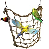 Parrot Bird Swing Thick Chew Rope Hammock Hanging Cage Toys Small Animal Activity Toy Rat Ferret Hemp Rope Nets Climbing Ladder Macaw African Greys Cockatoo Budgies Parakeet