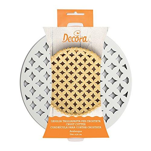 2 opinioni per Decora 0215800 Griglia Tagliapasta per Crostate Arabesque, Bianco, 30 x 30 x 3