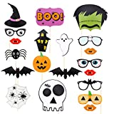 Tinksky 22pcs Holloween Prop Photo Booth Props DIY Kit for Party Supplies Featuring Boo Pumpkin Ghost Halloween Decorations Birthday Party Photo Booth Props