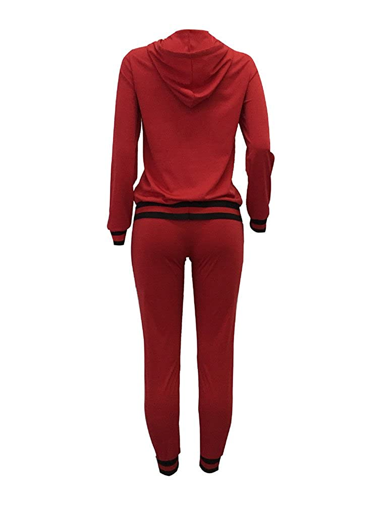 Halfword Womens 2 Piece Outfits Hoodies and Pants Set Bodycon Tracksuits