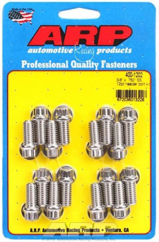 - ARP 4001202 Stainless 300 12-Point Header Bolt Kit - Pack of 16