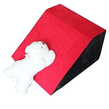 Escalera de Mascota Escaleras para Perros Pequeñas Rampa para Mascotas Mediana Pasos para Gatos Rojos para Camas Y Sofá, Extraíble, Fondo Antideslizante: ...