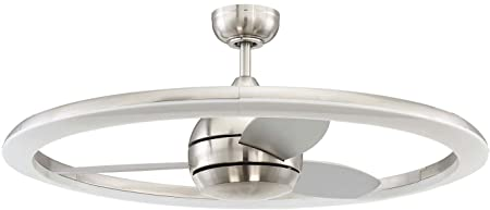 Ceiling Fan with Dimmable LED Light and Remote 36 Inch by Craftmade ANI36BNK3 Anillo, Brushed Nickel