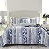 Laura Ashley Evelyn Quilt, Full/Queen, Medium Blue