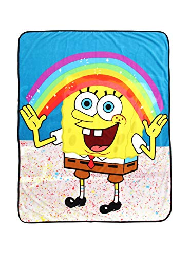 Spongebob Squarepants Imagination Rainbow Throw Blanket