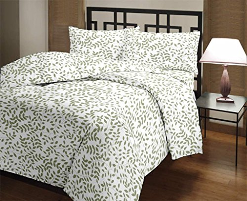 Rajlinen 400 Thread Count 100% Cotton Sheet Set Vine Printed Full-XL 15