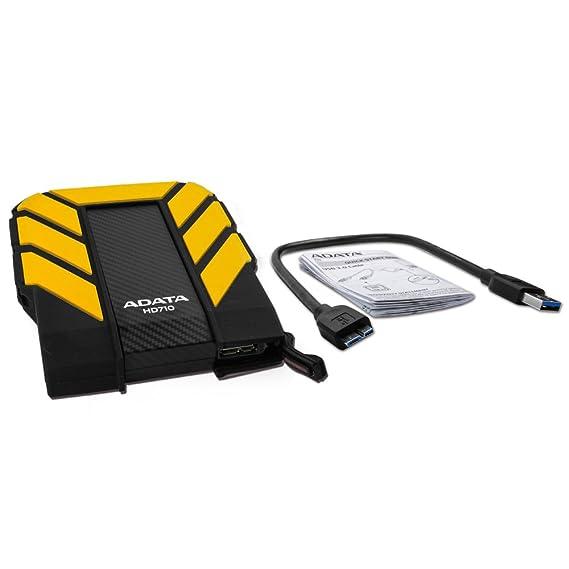 ADATA AHD710-1TU3-CYL - Disco Duro Externo Robusto de 1TB, Alta Velocidad USB 3.0, Resistente al Agua, al Polvo y a Impactos de Grado Militar IP68, ...