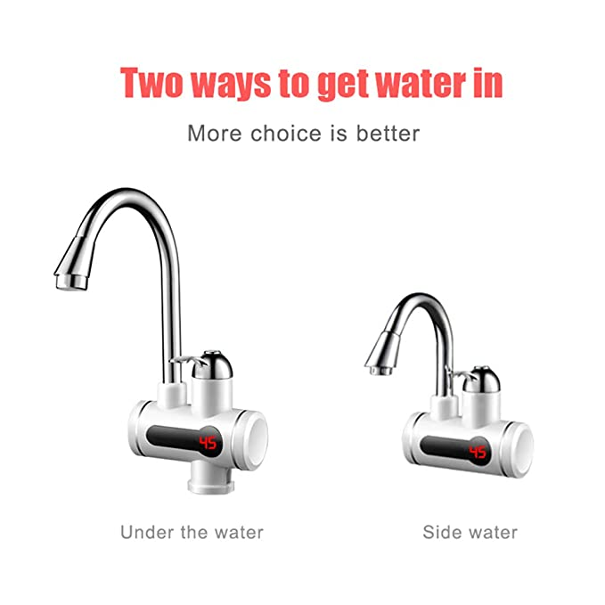 Electric Hot Water Heater Fauce Electrica Water Heating Tankless Kitchen Calentador Led Display Instant Water Tap 3000W, B - - Amazon.com