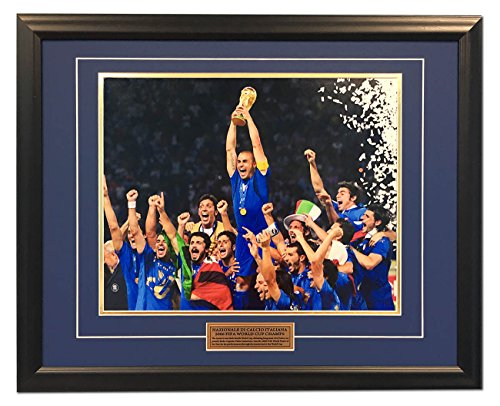 2006 Fifa World Cup Italy - Italy Football 2006 FIFA World Cup Champions Soccer 25x31 Frame