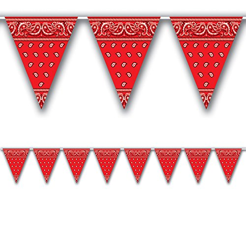 Bandana Pennant Banner Party Accessory (Value