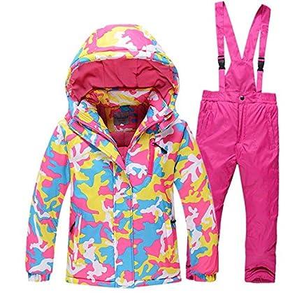Ocamo Traje de esquí Pantalones Impermeables + Chaqueta Deportes de Invierno Engrosamiento de la Ropa,