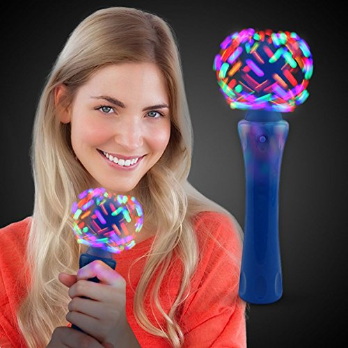 LED Light Up Orbit Wand Spinner Toy for Kids