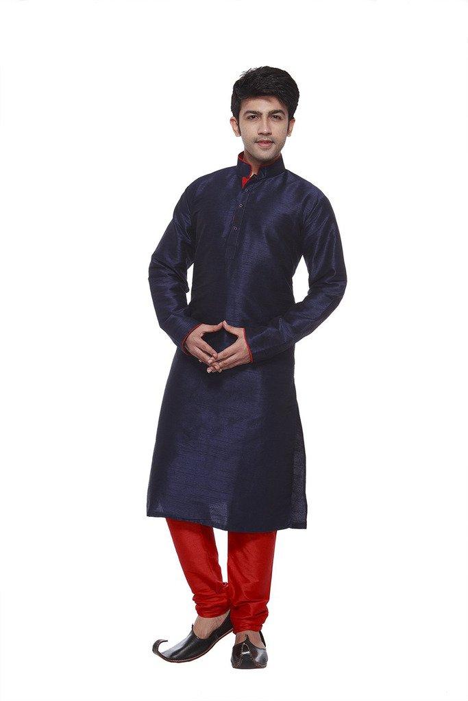 Larwa Men's Festive, Wedding Kurta Pyjama Set Special for eid=Blue