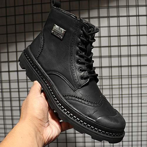 EAOJRSCSA Martin Stiefel Herren Winter Plus Samt Hohe Schuhe Warme Baumwolle Schuhe Retro Werkzeug Stiefel Schnee Stiefel Kurze Stiefel Flut