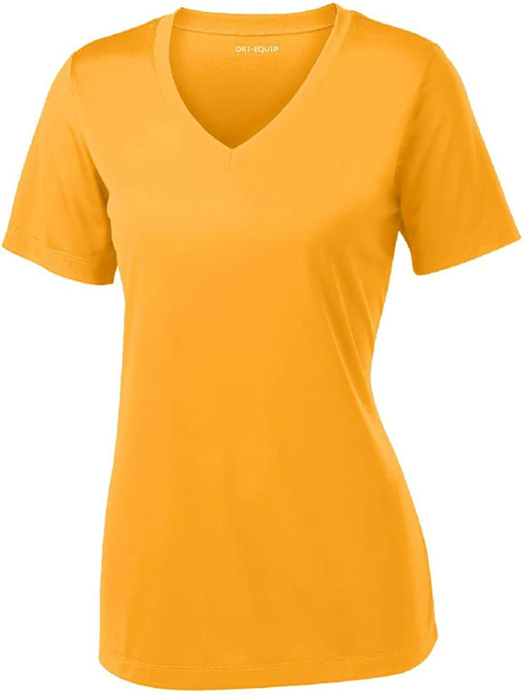 Women's Short Sleeve Moisture Wicking Athletic Shirts in Sizes XS-4XL: Clothing