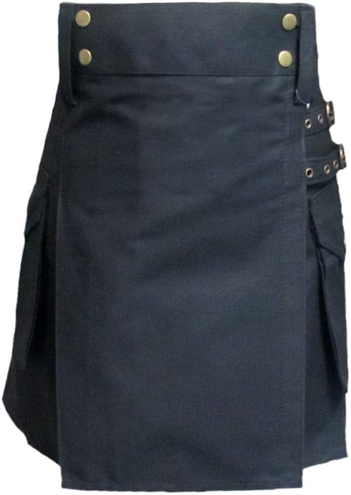 Tartanista Womens 19 Inch Length Cotton Utility Skirt