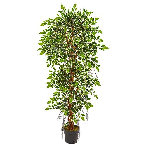 (Nearly Natural 9131 5-Ft. Elegant Ficus Artificial Silk Trees Green)