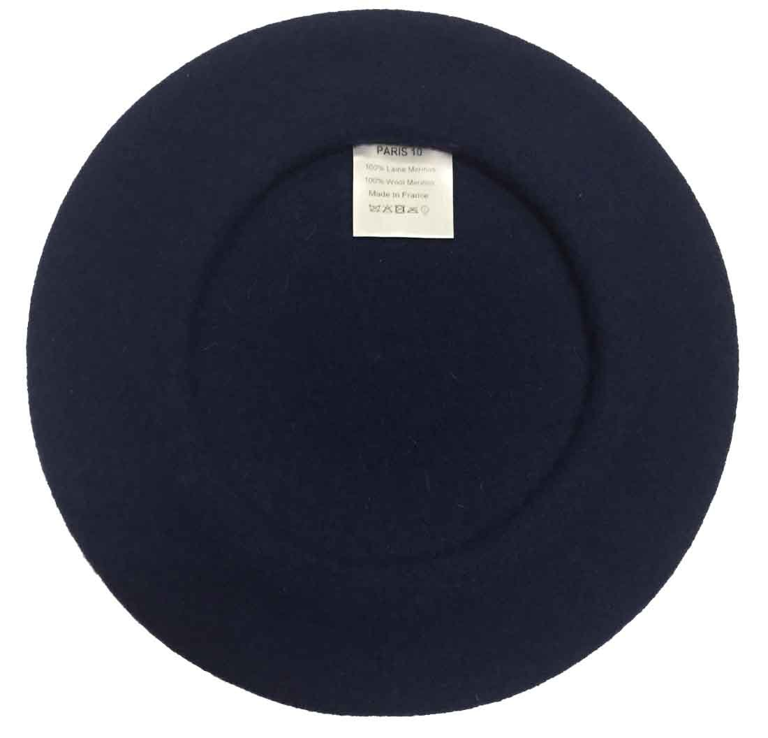 Laulhere Traditional French Wool Beret (Navy)