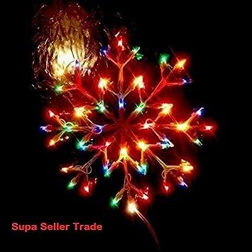 Christmas Window Multicolour Or Warm White Snowflake Indoor