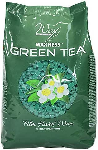 Waxness Wax Necessities Film Hard Wax Beads Green Tea 2.2 Pound