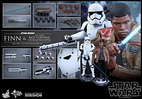 (Hot Toys Star Wars Episode VII The Force Awakens Finn & Riot Control Stormtrooper 1/6 Scale Figure Set)