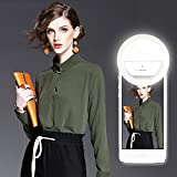LED Selfie Ring Light, [Advaka] 36 LED 3-Level Supplementary Ring Light USB Rechargeable Magic Clip On Selfie Ring Light for Smart Phone Camera in Darkness