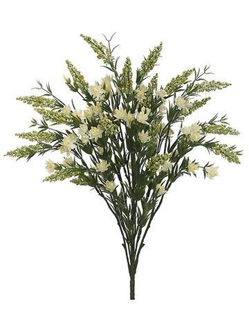 Artificial Heather Wildflower Bush in White - 23