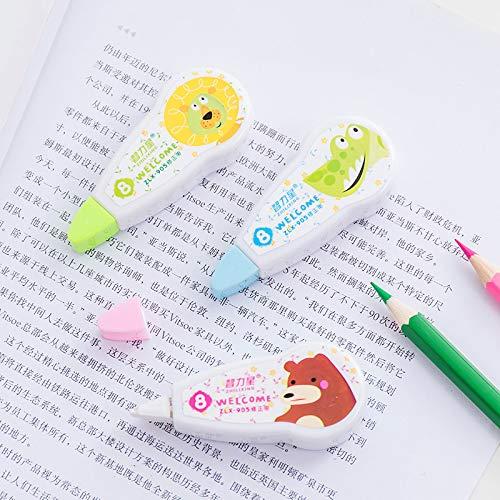 Iaywayii 1pcs Lindo de Kawaii Animal de la Historieta Cinta correctora Estudiante Herramientas Corrector Stationery Office Supplies Premios