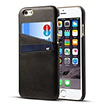 iPhone 6s ケース - カード収納 背面 Rssviss レザー ネイビー アイフ...