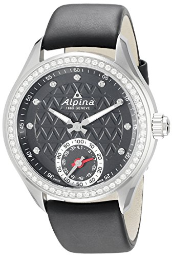 Alpina Women's AL-285BTD3CD6 Horological Smart Analog Display Swiss Quartz Black Watch by Alpina
