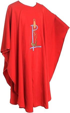 BLESSUME Sacerdote Casulla católico Iglesia Pájaro Trigo Bordado ...
