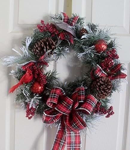 Amazon.com: Christmas Wreath, Holiday wreath, woodland ...