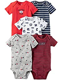 Baby Boys' 5 Pack Bodysuits (Baby) Sports/Hunk, 3 Months