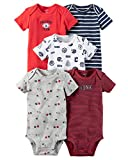 Carter's Baby Boys' 5-Pack Bodysuits 12 Months