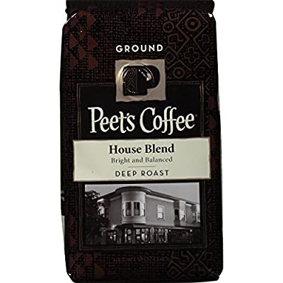 Peet's Coffee House Blend Ground, Dark Roast, 12oz (Pack of 2) bag
