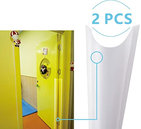 Clear Child Safety Door Hinge Protector Cover Finger Pinch Guard for Back Door