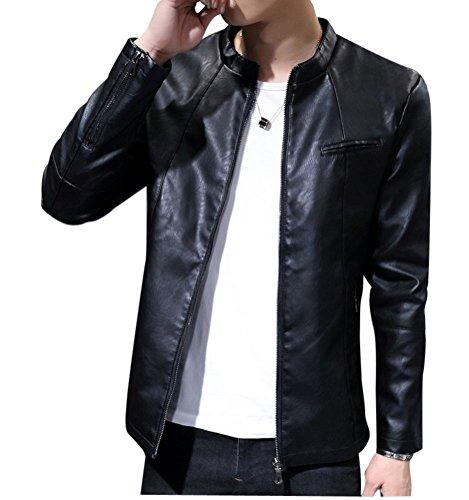 Pu Giacche Biker Basic Fit Giacchetta Capispalla Nero Cappotto In Uomo Pelle Slim Cappotti xfSzfHq