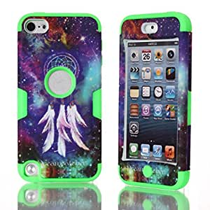 Touch 5,iPod Touch 5 Case,Touch 5 Case,iPod Touch 5 Cases,Creativecase ipod touch 5 cases for girls, Luxury ipod touch 5 generation cases Beautiful pattern 3in1 Hybrid hard soft perfect design Touch 5 Case Cover For iPod Touch 5 5th generation-X7