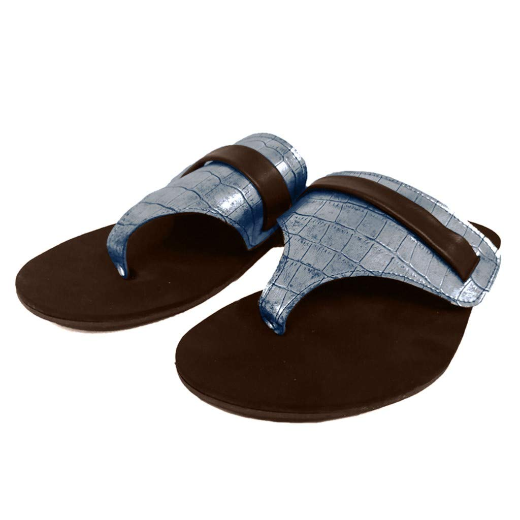 Women's Low Wedge Sandals - ✔ Hypothesis_X ☎ Summer Sandals Comfortable Open Toe Slippers Casual Shoes Silver
