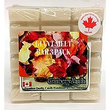 Giant Wax Melt Bar 18 Cubes Three Pack in Cranberry Vanilla Maple Walnut and Farmhouse Apple