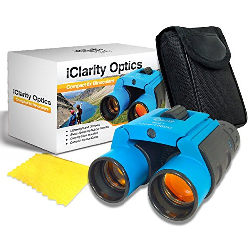 Compact Binoculars Set for Kids and Adults 8x21 with Case, Shockproof, Real Lens for High Clarity Educational