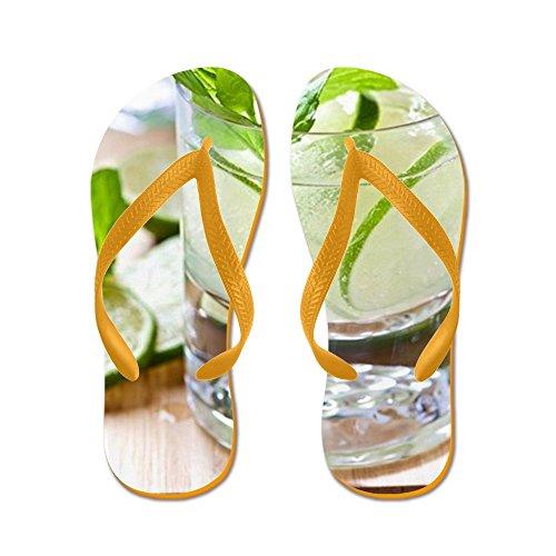 Cocktail Al Mojito Cocktail In Un Bicchiere - Infradito, Sandali Infradito Divertenti, Sandali Da Spiaggia Arancione