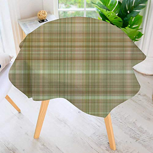 Cheap  PRUNUS Easy-Care Cloth Tablecloth Round-Digital Tiles Design Wallpaper Design Great for Buffet..
