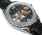 Happy New Year Gifts USFS075 New Leather 118 Diamond Crystal Watch / G-Unit Hip Hop
