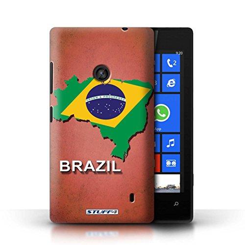 Kobalt® Imprimé Etui / Coque pour Nokia Lumia 520 / Brésil conception / Série Drapeau Pays