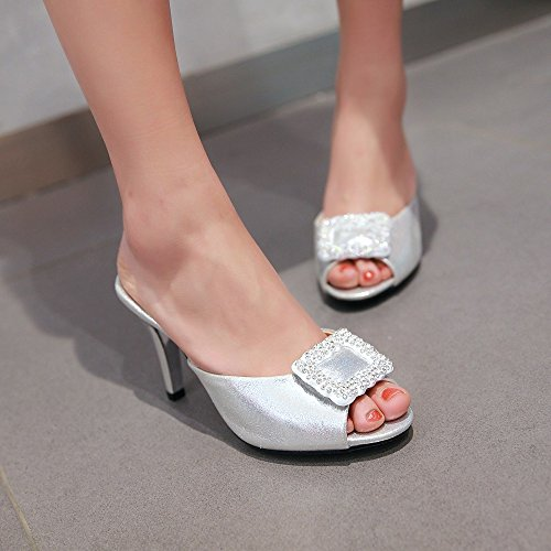 Silver MINIVOG Buckle MINIVOG Womens Cool for Womens Weather Slipper Mules zqTwB1qZ5