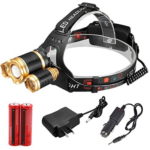 30000 lumens Headlamp Zoom Cree 3X XML T6 Led Torch Lamp Head Light 18650 Battery (New Mx Graphics)